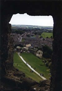 The view from Corfe Castle
